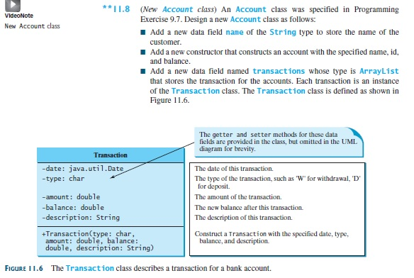 Solved java figure 116 the transaction class describes a 8 new account class an account class was specified in programming vld exercise 97 design ccuart Gallery