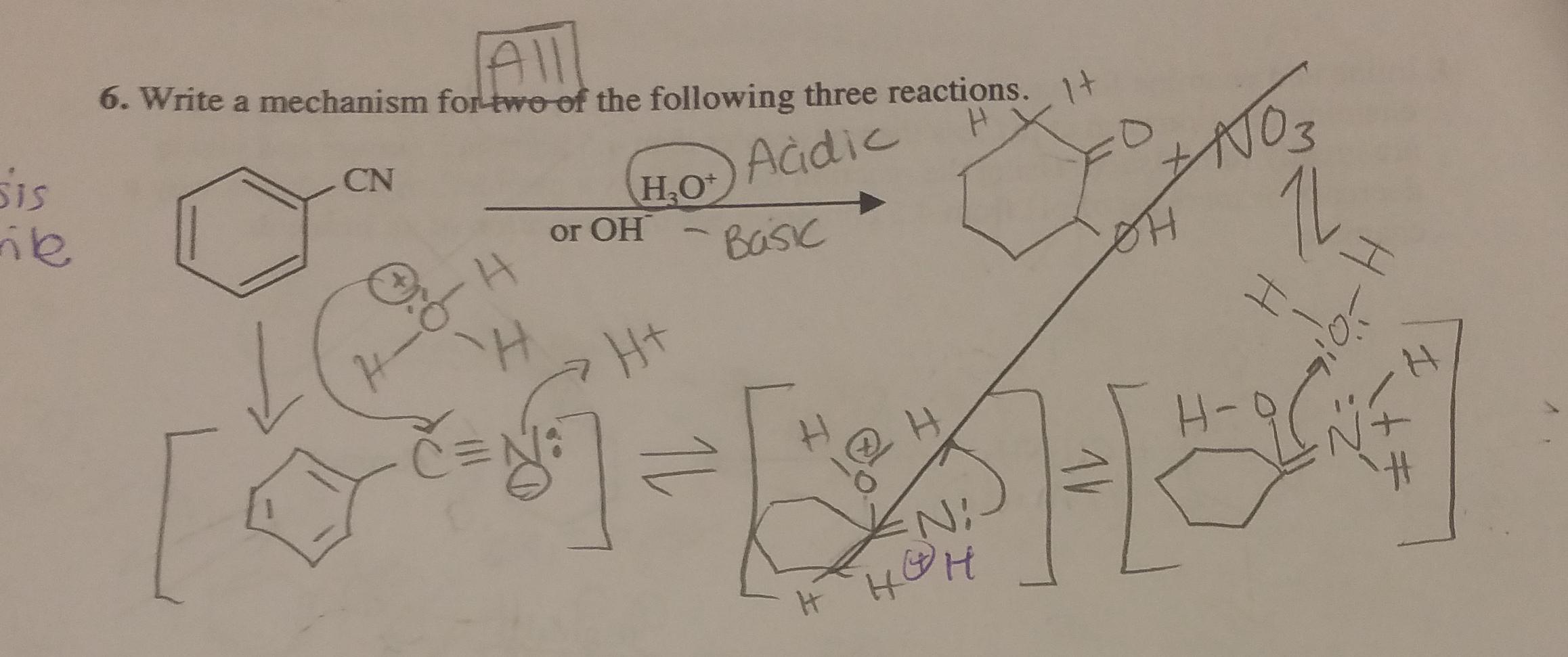 Solved: Acid/base Hydrolysis Of Nitrile  Please Show Both