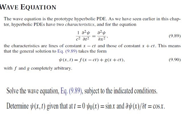 Solved: WAVE EQUATION The Wave Equation Is The Prototype H