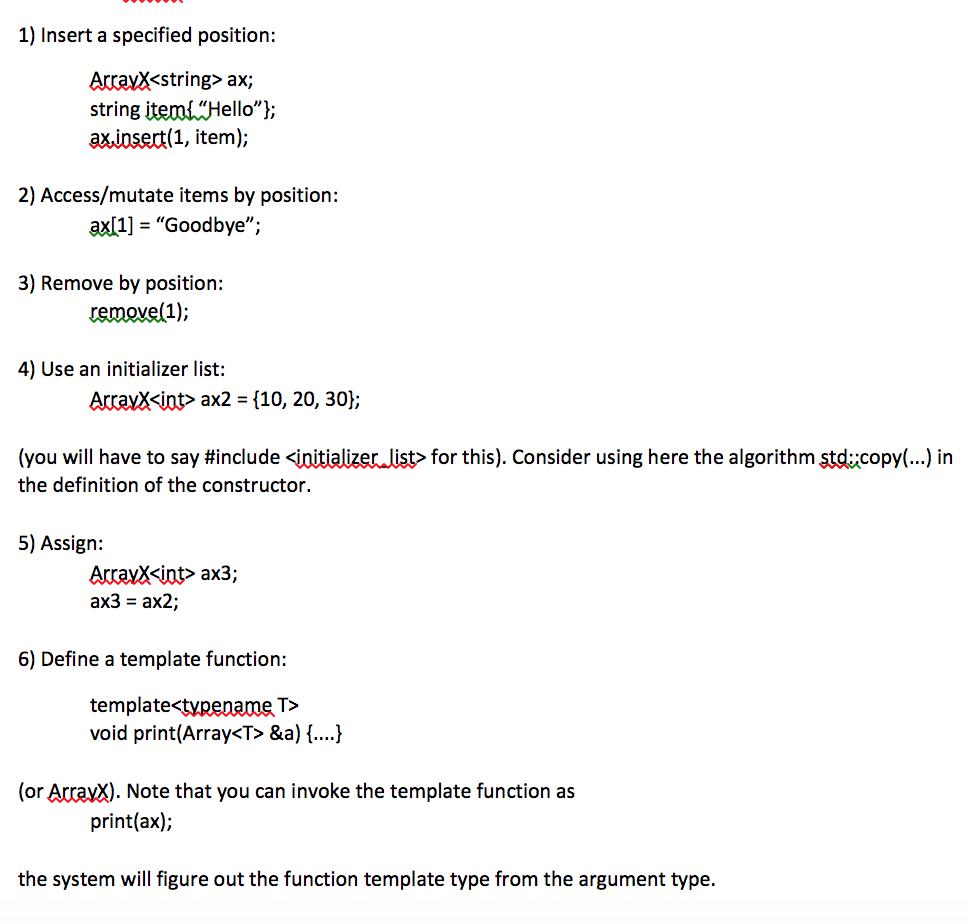 C++ Dynamic Array Help #ifndef ARRAY_H #define ARR... | Chegg.com