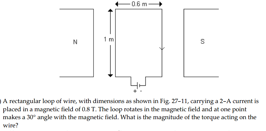 Solved: A Rectangular Loop Of Wire, With Dimensions As Sho ...