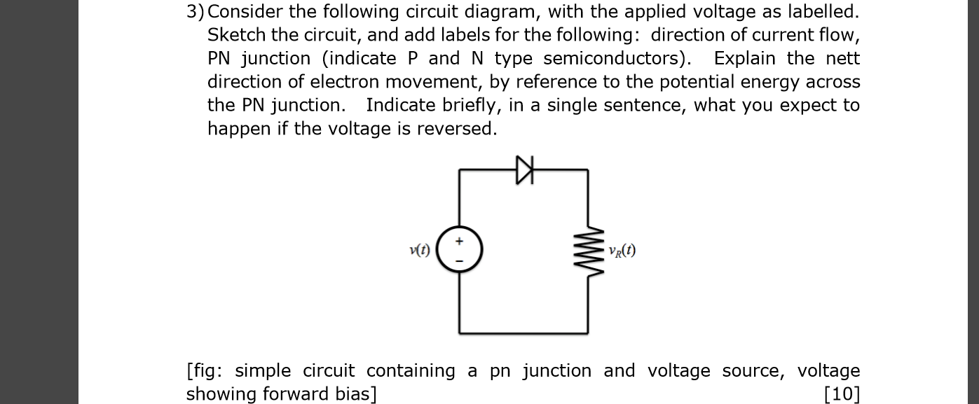 consider the following circuit diagram, with the a