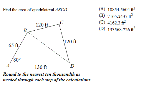 Solved find the area of quadrilateral abcd chegg find the area of quadrilateral abcd ccuart Images