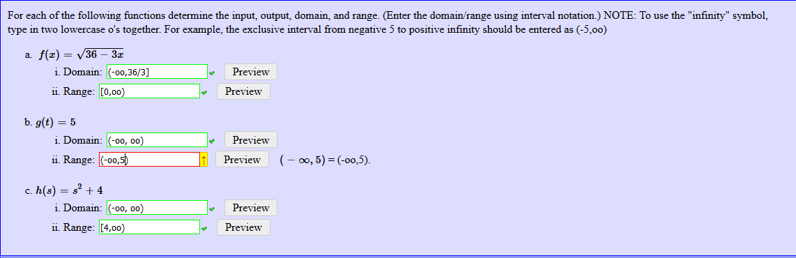 Solved For Each Of The Following Functions Determine The