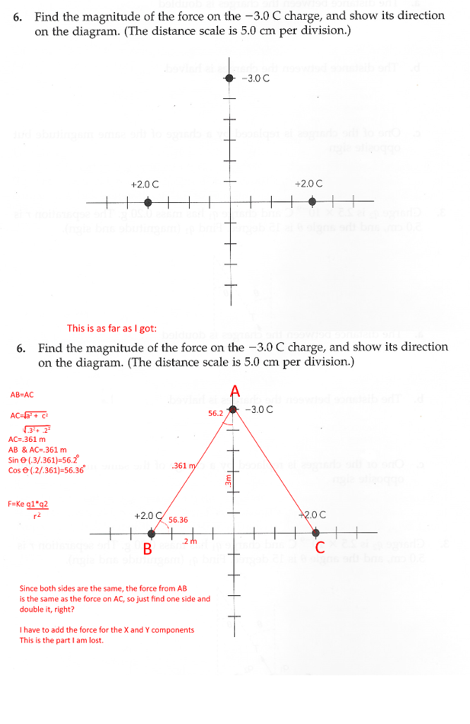 Distance scale diagram residential electrical symbols solved find the magnitude of the force on the 3 0 c char rh chegg com sight triangle diagram calculator diagram ccuart Image collections