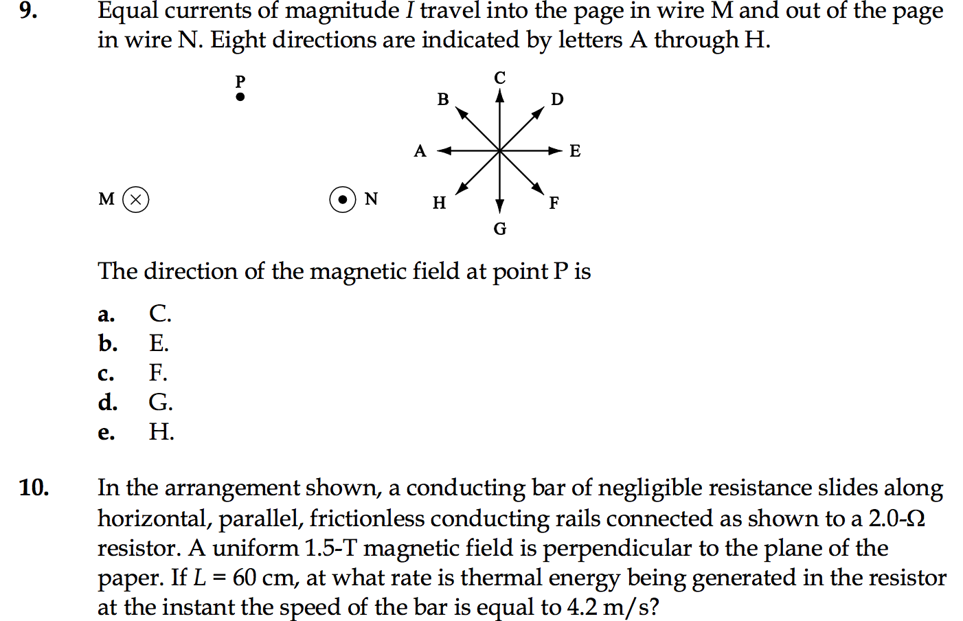 Solved: Equal Currents Of Magnitude I Travel Into The Page ...