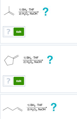 Solved Below Are Several Examples Of Hydroboration Oxidat