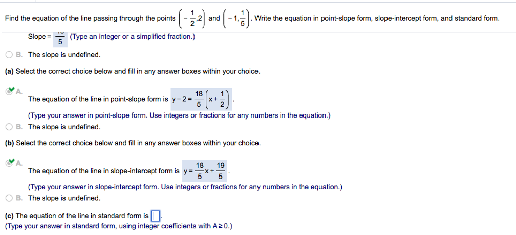 Solved Find The Equation Of The Line Passing Through The