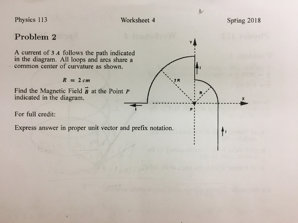 Solved Physics 113 Worksheet 4 Spfing 2018 Problem 2 A Cu