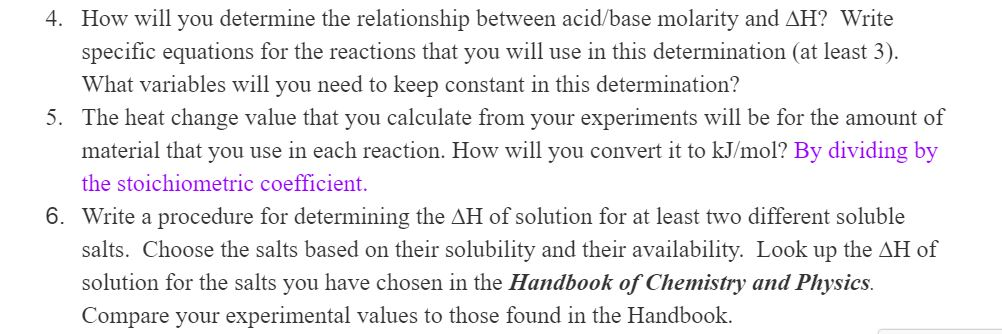 an experiment to determine simple acid base reactions
