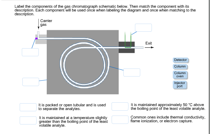 Solved: Label The Components Of The Gas Chromatograph Sche ... on