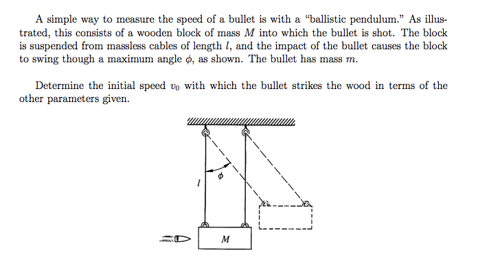 a simple way to measure the speed of a bullet is w