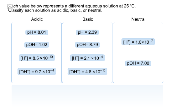 Solved: Which Value Below Represents A Different Aqueous S ...