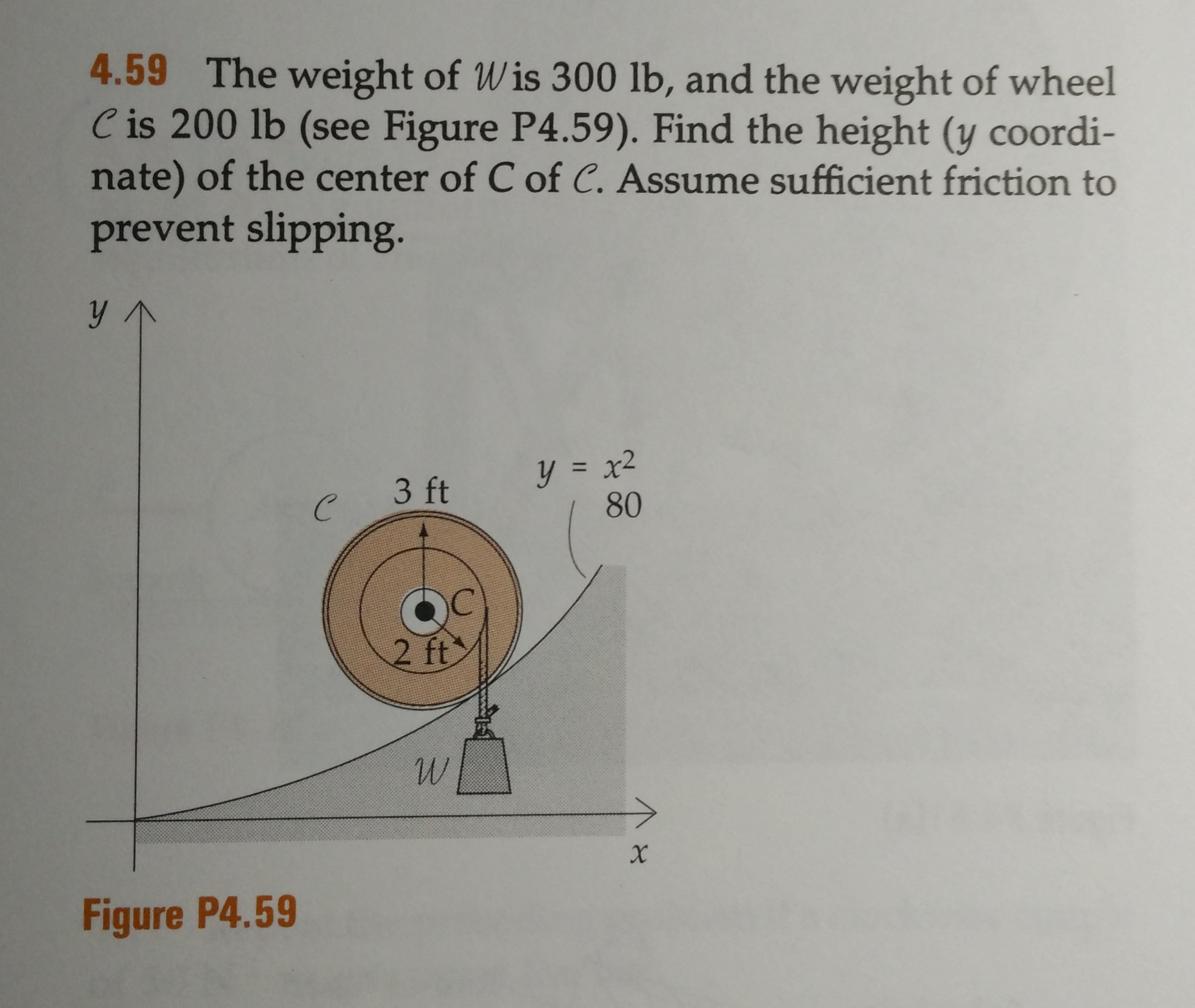 459 The Weight Of W Is 300 Lb, And The Weight Of How To Calculate The  Surface Area