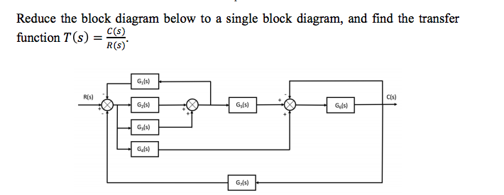 Solved reduce the block diagram below to a single block d question reduce the block diagram below to a single block diagram and find the transfer function t s ccuart Images