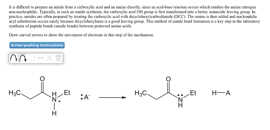 Solved: It Is Difficult To Prepare An Amide From A Carboxy