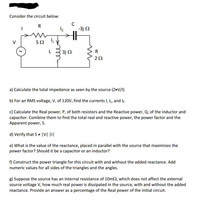 Solved: Consider The Circuit Below: A) Calculate The Total
