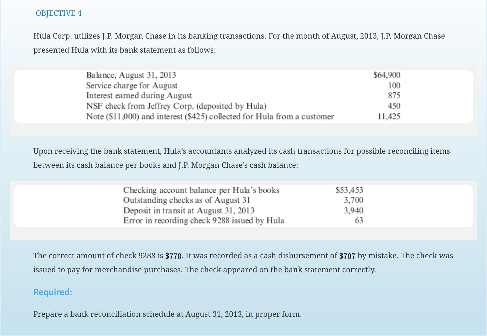 Hula Corp. Utilizes J.P. Morgan Chase In Its Banki