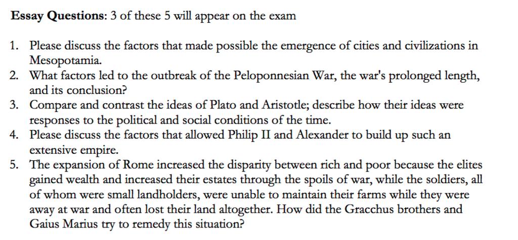 the wars essay topics