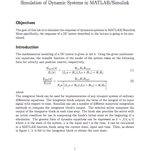 Solved: Simulation Of Dynamic Systems In MATLAB/Simulink O