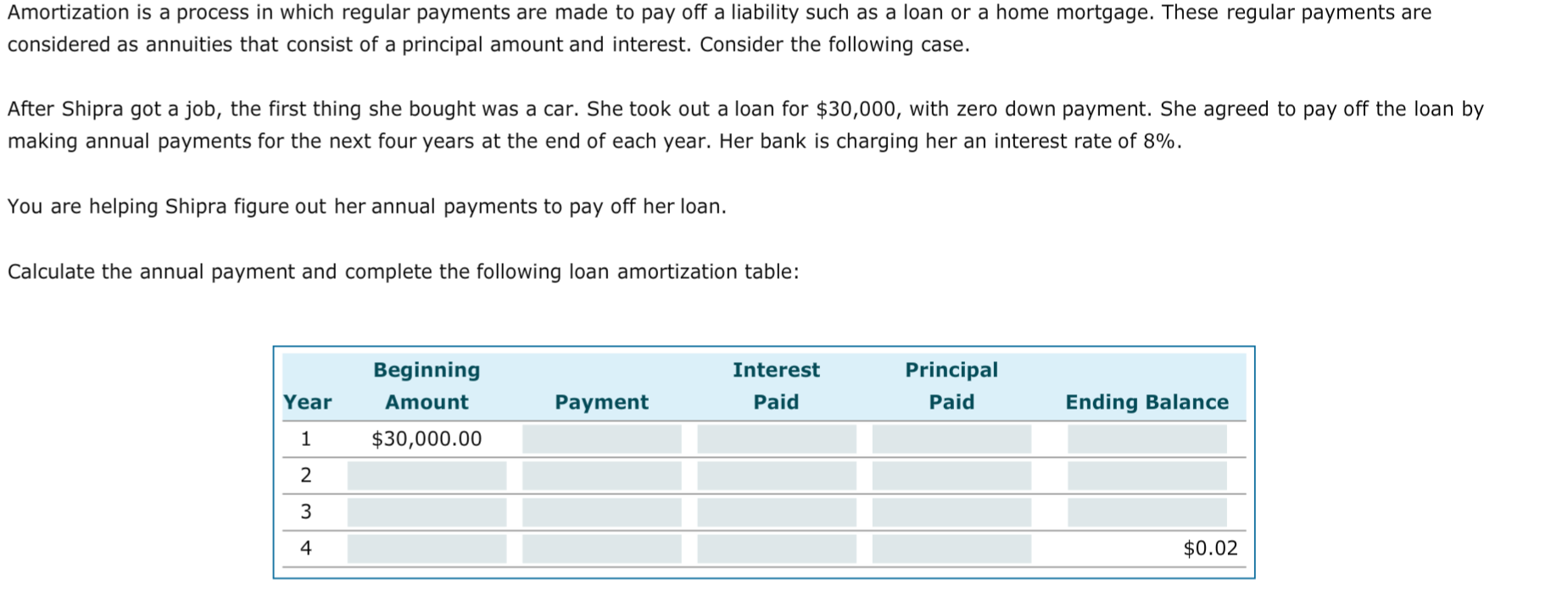 solved amortization is a process in which regular payment