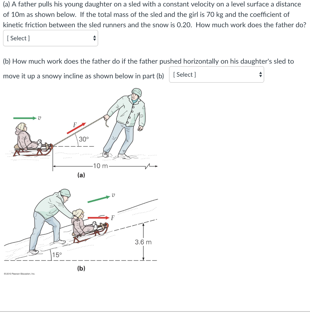 Solved A Father Pulls His Young Daughter On Sled Wi Cv Joint Diagram With Constant Velocity
