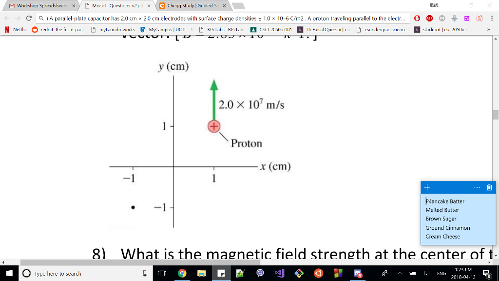 What Is The Magnetic Field At The Position Of The     | Chegg com