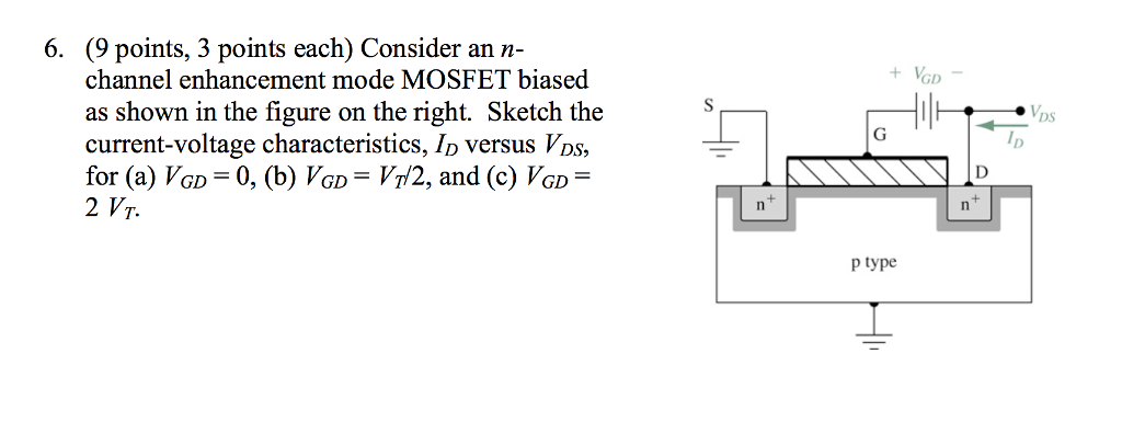 Solved: Consider An N-channel Enhancement Mode MOSFET Bias