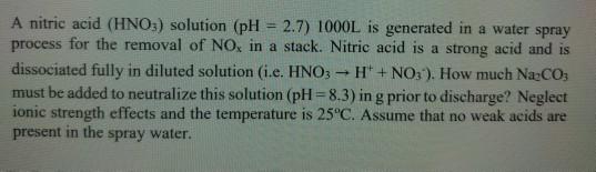 Solved: A Nitric Acid (HNO