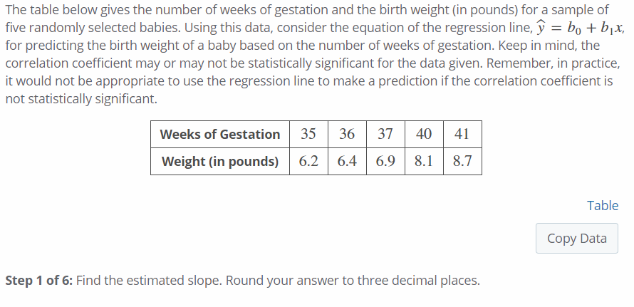 Solved The Table Below Gives The Number Of Weeks Of Gesta