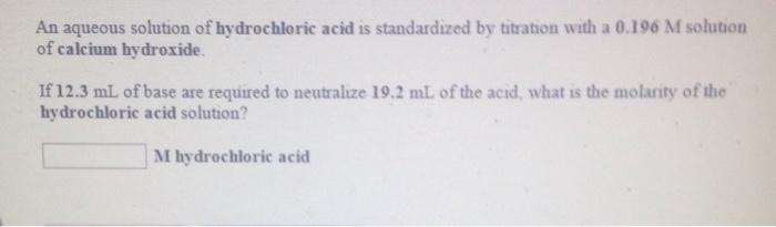 standardization of potassium hydroxide