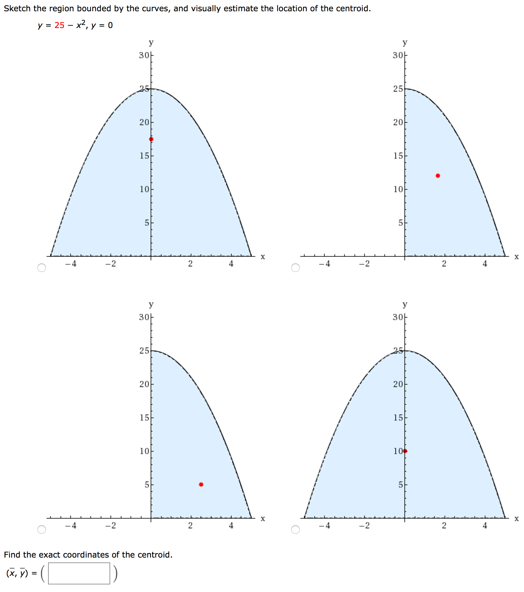 Solved: Sketch The Region Bounded By The Curves, And Visua ...
