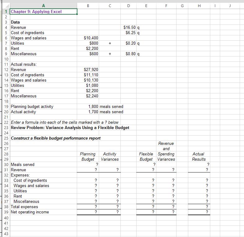 Solved: Download The Applying Excel Form And Enter Formula