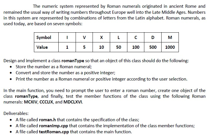 Solved The Numeric System Represented By Roman Numerals O