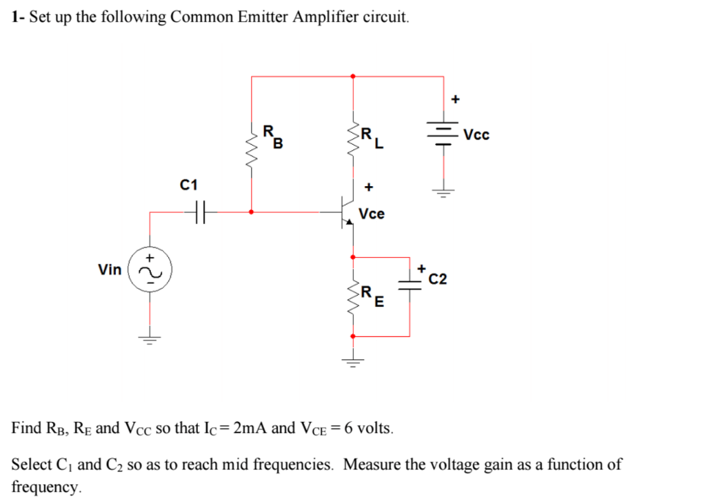 Solved 1 set up the following common emitter amplifier c 1 set up the following common emitter amplifier circuit c1 vce c2 find rb ccuart Image collections