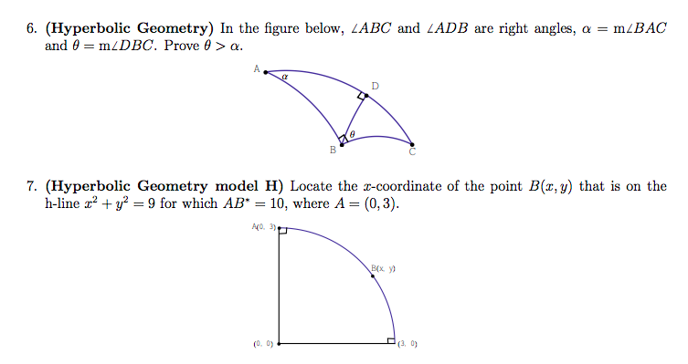 Solved: 6  (Hyperbolic Geometry) In The Figure Below, LABC