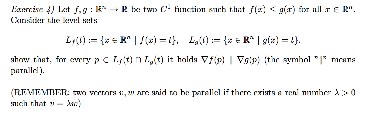 Let F G Rn Rightarrow R Be Two C1 Function Su Chegg