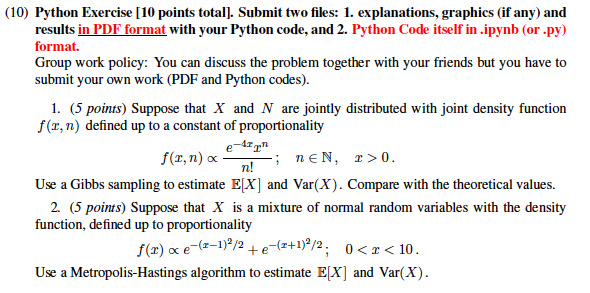 10) Python Exercise [10 Points Total  Submit Two     | Chegg com