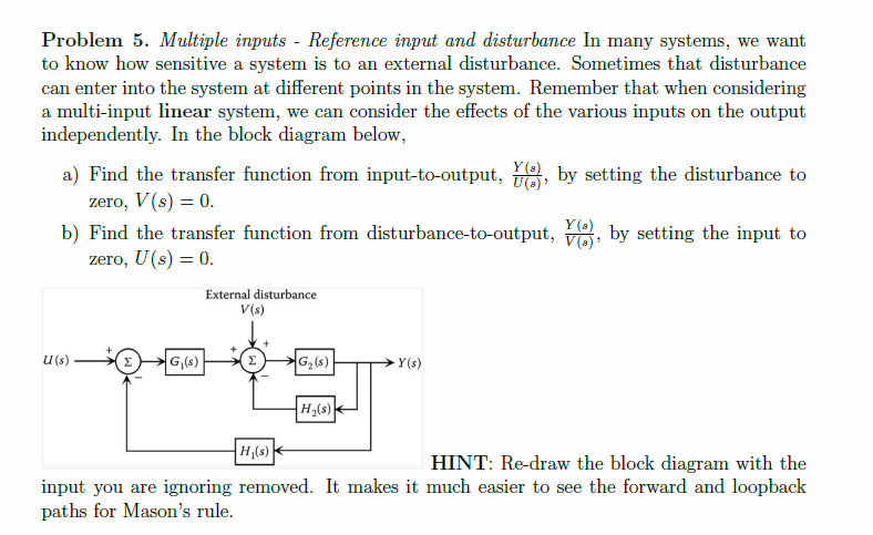 Solved Problem 5 Multiple Inputs Reference Input And D