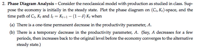 2 phase diagram analysis consider the neoclassi chegg phase diagram analysis consider the neoclassical model with production as studied in class ccuart Choice Image
