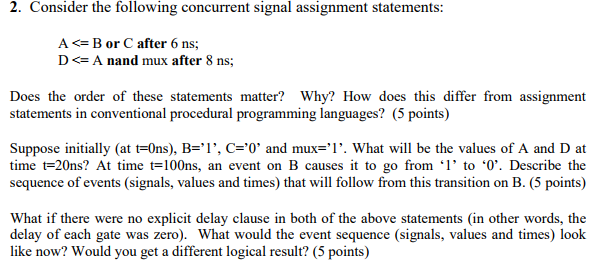 Electrical engineering archive september 25 2017 chegg 2 consider the following concurrent signal assignment statements a b or c fandeluxe Image collections
