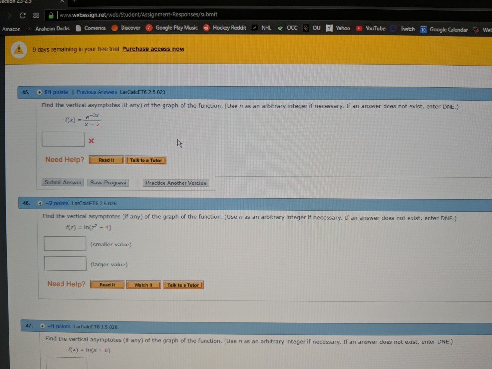 Solved: C8www webassignnet Web/Student/Assignment-Response