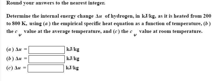 how to calculate change in internal energy