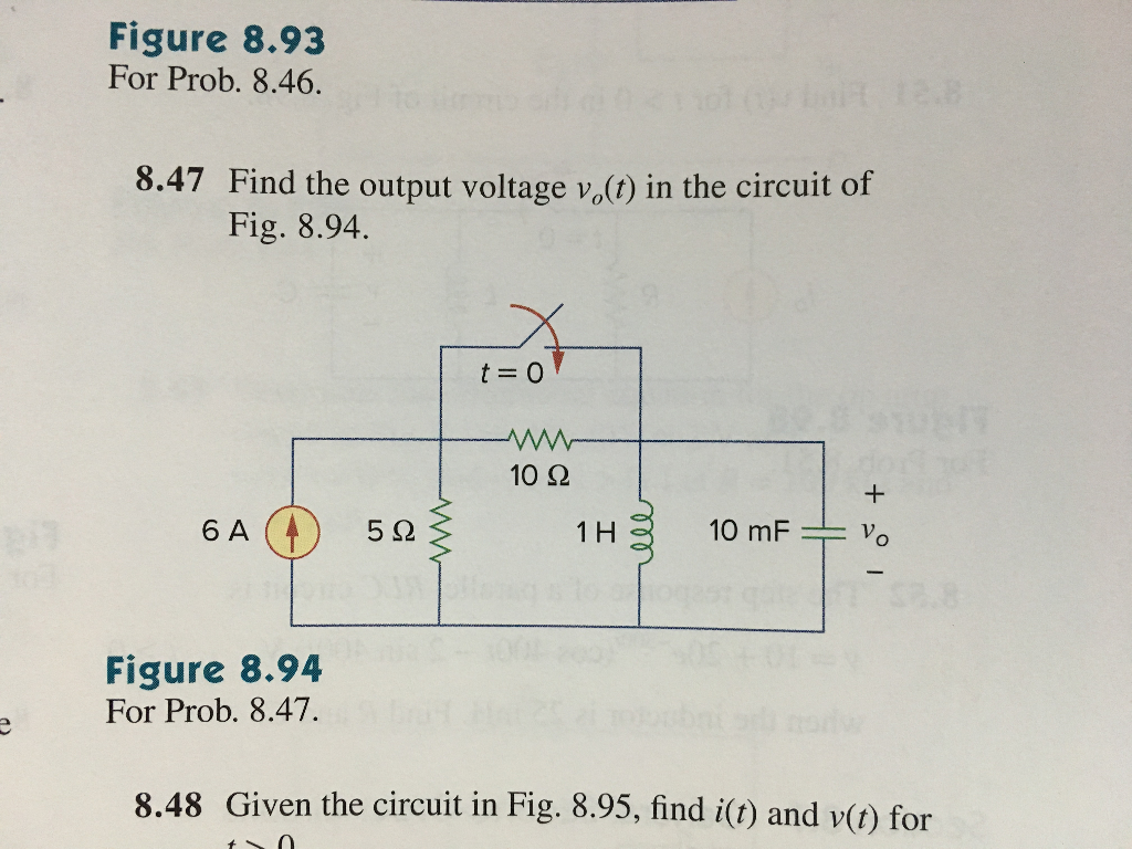 Solved Textbook Is Fundamentals Of Electric Circuits 6th Dc 847 Find The Output Voltage In Circuit