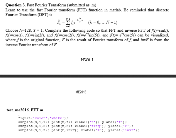 Solved: Fast Fourier Transform (submitted As M) Learn To U