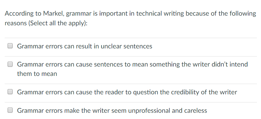 grammar problems in writing