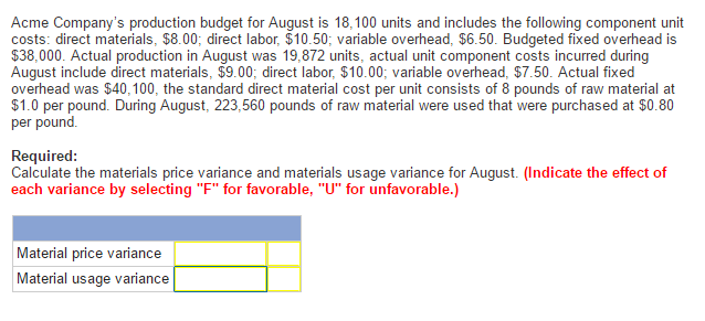 reasons for material price variance