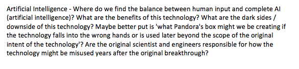 a good thesis statement for artificial intelligence