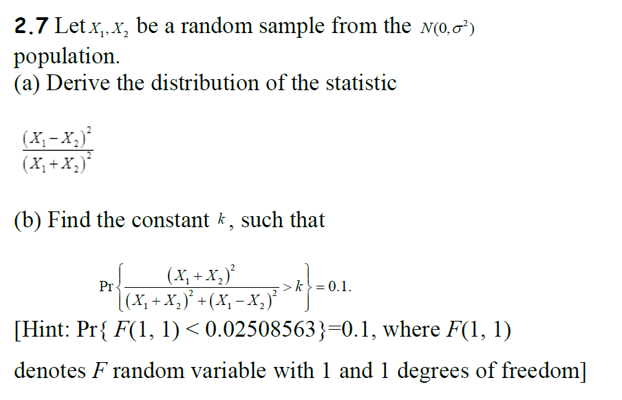 Statistics and probability archive april 01 2018 chegg 27 letx x be a random sample from the n0 fandeluxe Choice Image