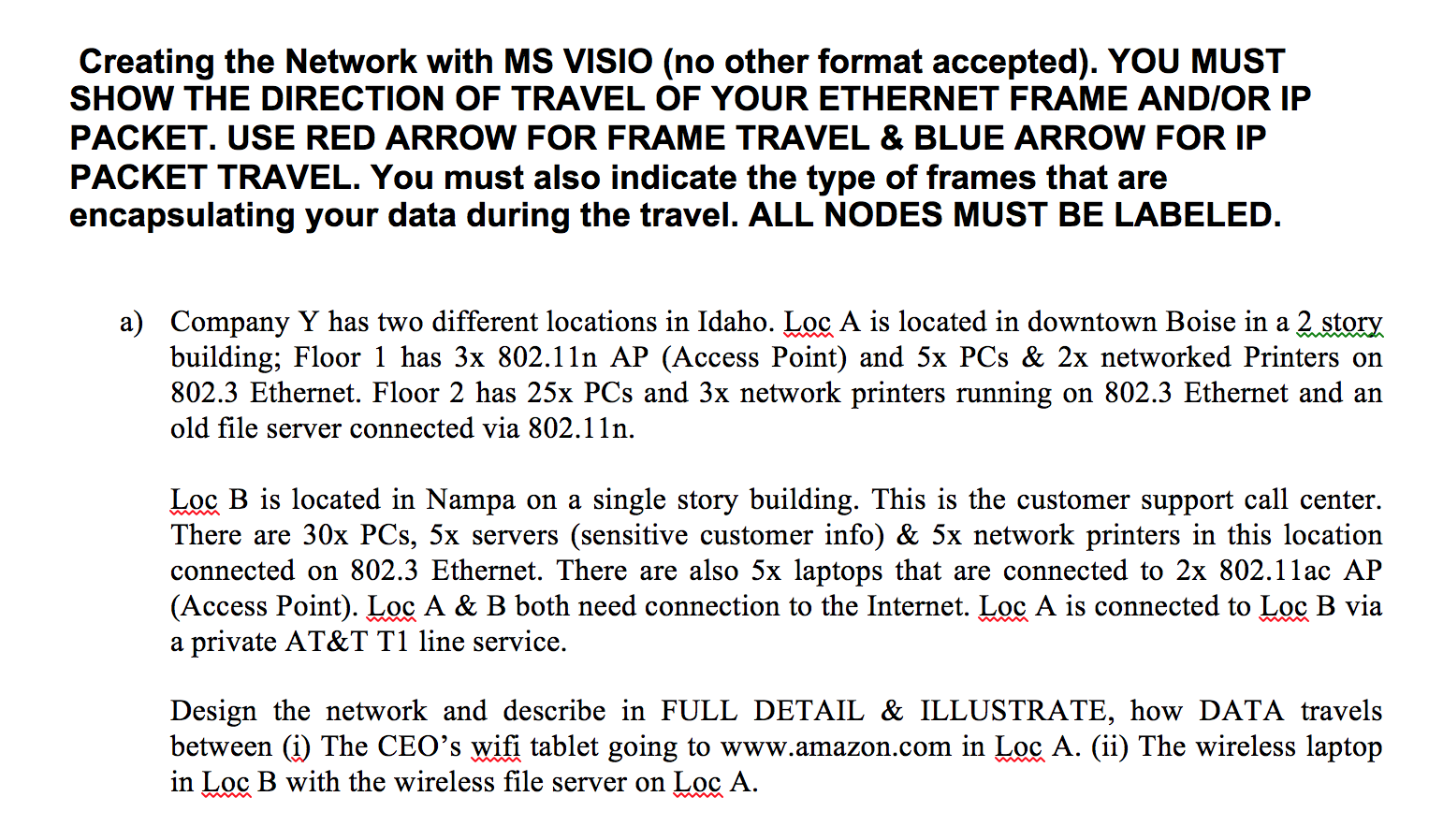 Solved: Creating The Network With MS VISIO (no Other Forma ...
